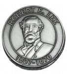 Robert E. Lee Circular Pewter Magnet